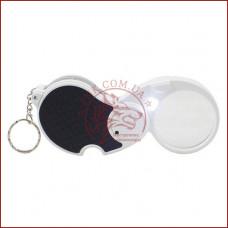 Лупа карманная, ручная лупа с автоматической подсветкой (Линза 5Х - 45мм)