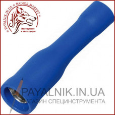 Клемма кабельная круглая (гнездо) 1,5-2,5мм. диаметр 4мм, синяя, (1шт.) (40-0606)