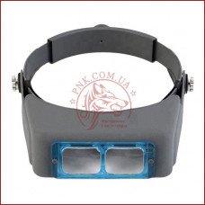 Бинокулярная лупа MG81007-B, стеклянные линзы, удобное крепление