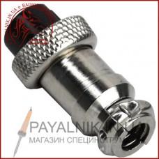 Разъём MIC 322, (гнездо), монтажный, 2pin, диаметр - 16мм (1-0401)