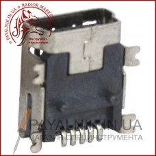 Гнездо mini USB 5pin монтажное, SMT тип (1-1080)