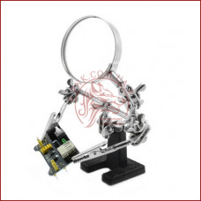 Держатель для пайки Третья Рука JM-501 (ZD10-D), стеклянная лупа 60мм., чугунная подставка, зажимы