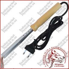 Паяльник 100 ватт с деревянной ручкой TLW-100W, 220V, паяльник с керамическим нагревателем