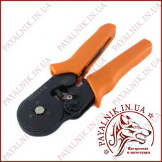 Обжимные пресс клещи HSC-6-6 для втулочных наконечников, цанговый HB, TE, EN, (0.08-6мм²)