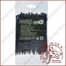 Стяжка кабельная черная 3*100 (2,5*100мм) (100шт)