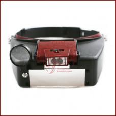 Бинокулярная лупа очки MG81007-A, Led подсветка, сменные линзы, легкий вес, удобное крепление