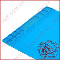 Коврик для пайки 405х305 мм термостойкий мат, силиконовый коврик с магнитными ячейками