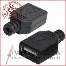 Гнездо USB тип A под шнур 1-1050